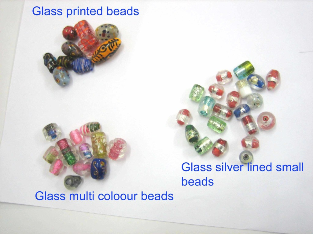 Glass asstt beads 3 styles