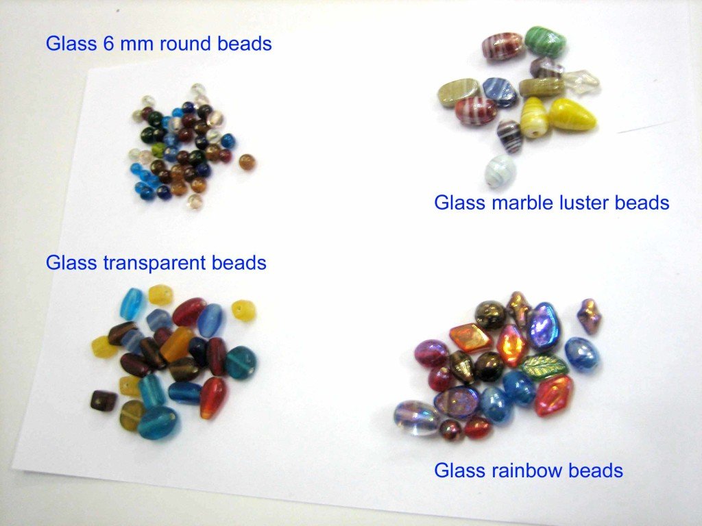 Glass beads 4 styles