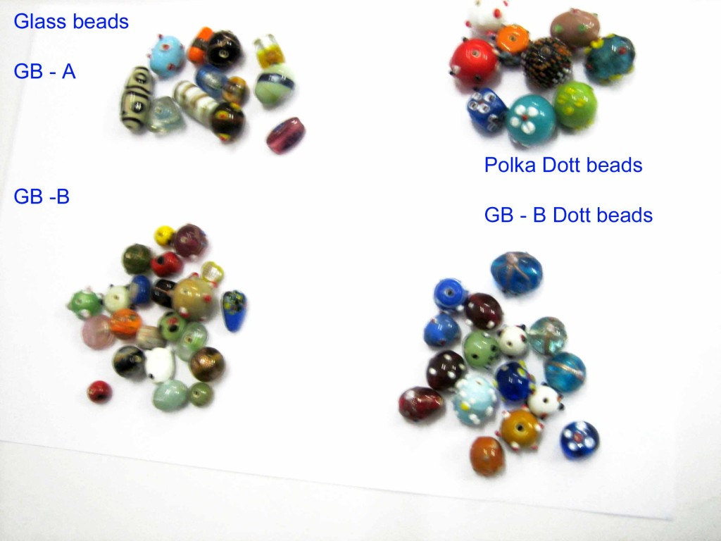 Glass beads GB - A, B ,polka dott