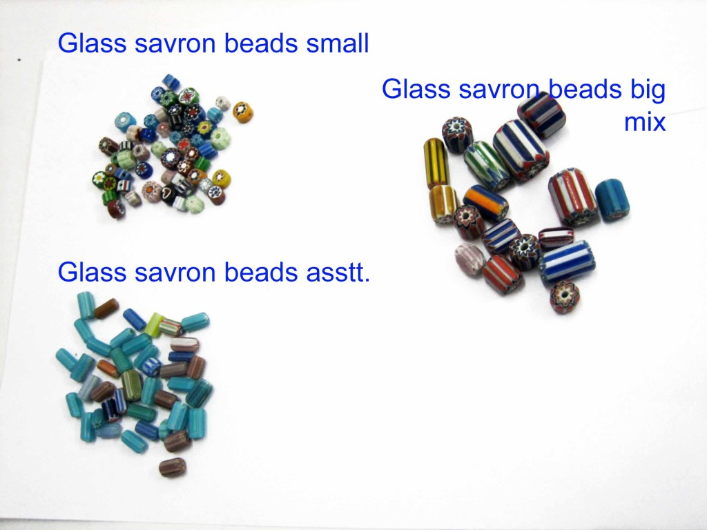 Glass beads savron 3 styles