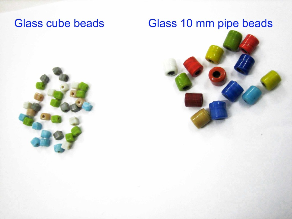 Glass cube,10 mm beads