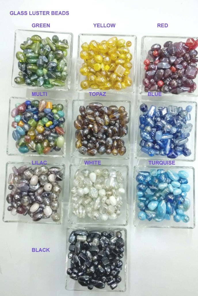 Glass luster beads