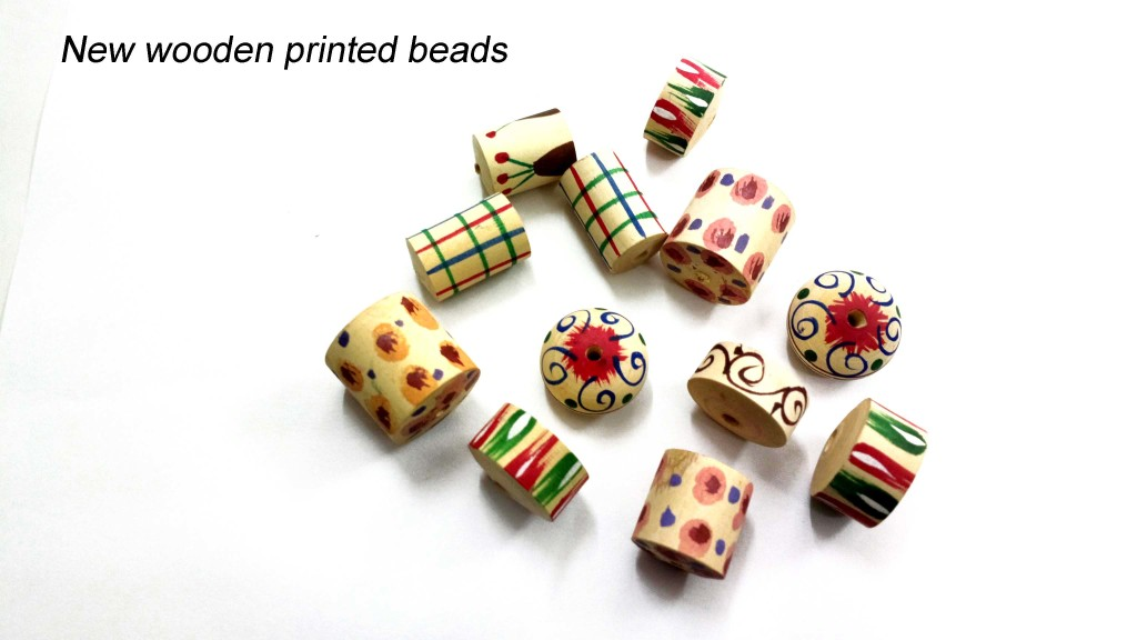New wooden printed beads
